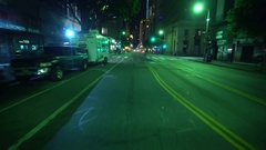 4K Driving Plates LA Downtown Broadway Rear View 03 7th St turn onto Broadway Stock Footage