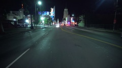 4K Driving Plates Hollywood Highland Ave Rear View 05 South bound at Highland Stock Footage