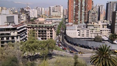 Traffic Timelapse in Santiago de Chile Stock Footage
