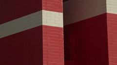 Close up denmark flag made of legosblocks Stock Footage