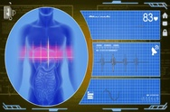 Digestion - Interface - medical screen - yellow - SD Stock Footage
