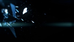 Broken Glass In Slow Motion With Lens Flare - 21 Stock Footage