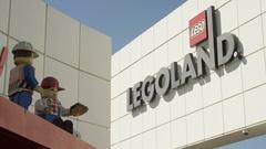 LegoLand Establishing shot in Billund Denmark Stock Footage
