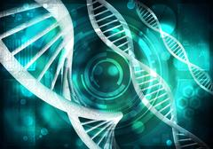 DNA molecules background, 3D rendering Stock Illustration