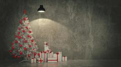 Christmas Tree with Gifts,Christmas concept. Stock Illustration
