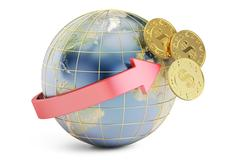 International bank transfer concept 3D rendering Stock Illustration