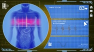 Digestion - Interface - medical screen - yellow Stock Footage