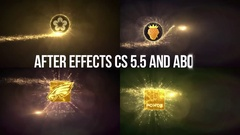 Gold Particles Logo Reveals v1. Stock After Effects