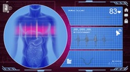 Digestion - Interface - medical screen - purple Stock Footage