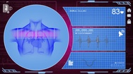 Heart - Interface - medical screen - purple Stock Footage