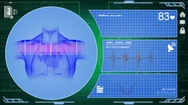 Heart - Interface - medical screen - green Stock Footage