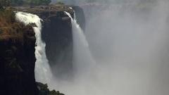 Victoria Falls in Zimbabwe (4K UHD footage) Stock Footage