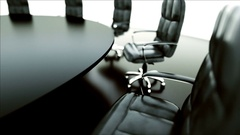 Boardroom, meeting room and conference table and chairs. Business concept. Stock Footage