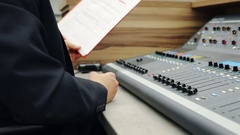 Sound engeneer at work  Stock Footage
