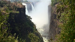 The great Victoria Falls (Zimbabwe, 4K footage) Stock Footage