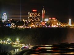 Niagara Falls, NY, USA - OCTOBER 2016: Buildings casinos and hotels, a Stock Footage