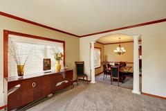 Entrance room with comfortable sitting area. Stock Photos