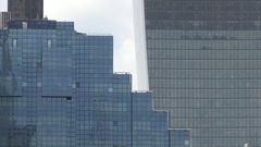 Glass Facades of Office Buildings in Central London Business Headquarter. Stock Footage