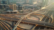 Intersection at Sheik Zayed Road Stock Footage