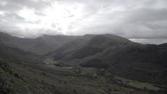 Ben nevis mountain scotland cloudy valley Stock Footage