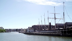 Ss great britain bristol sunny pan river Stock Footage
