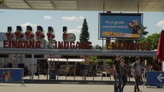 Tourism in Denmark at Lego Land Amusement Park Stock Footage
