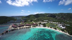 Aerial video of Sapphire beach, St.Thomas, US Virgin Islands Stock Footage