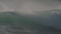 Slow motion long shots of waves during Hurricane Ignacio 2015 Stock Footage