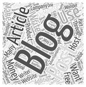 How to Use Articles as Blog Postings word cloud concept Stock Illustration