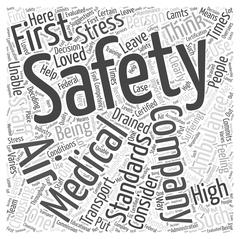 Consider Safety First When Choosing an Air Ambulance word cloud concept Stock Illustration