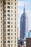 USA, New York State, New York City, Cityscape with Empire State Building Stock Photos