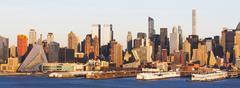 USA, New York State, New York City, Waterfront skyline at sunrise Kuvituskuvat