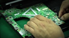 Assembling Components of a Computer Stock Footage