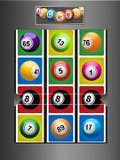 Fruit Machine and jackpot background Stock Illustration