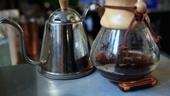 Filtered coffee Stock Footage