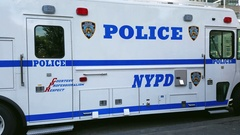 New York Police department.4K Stock Footage