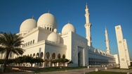 Sheikh Zayed Mosque Stock Footage