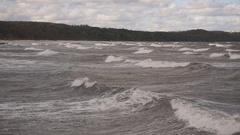 Wave splash on a stormy day Stock Footage