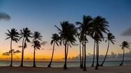 Beach at sunrise Stock Footage