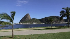 Flamengo beach and Sugarloaf mountain Stock Footage