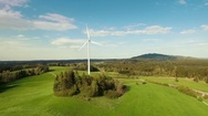Landscape with wind turbine Stock Footage