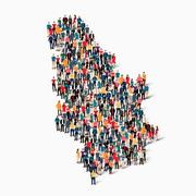 People map country Serbia Stock Illustration