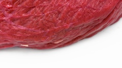 Fresh and juicy raw beef meat close up          Stock Footage