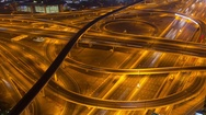 Road intersection Stock Footage