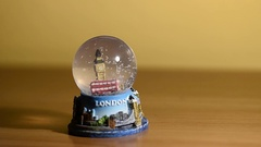 Snow globe dedicated to the city of London Stock Footage