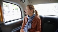 Woman in car Stock Footage