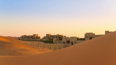 Oasis in desert Stock Footage