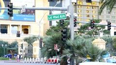 Las Vegas boulevard sign Stock Footage