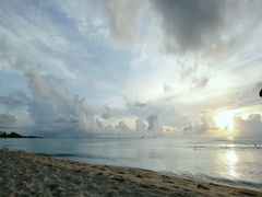 Caribbean clouds near sunset Stock Footage