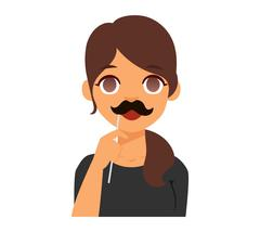 Woman emoji face vector Stock Illustration